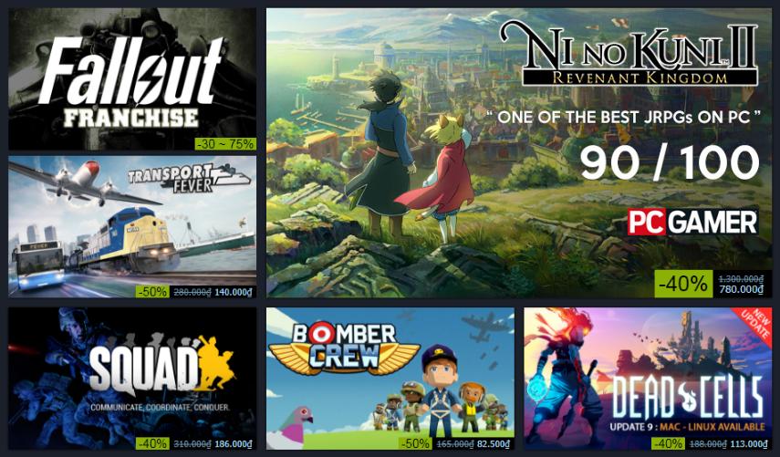 Summer Sale: Steam đang giảm giá một loạt các tựa game hay lên đến 90%