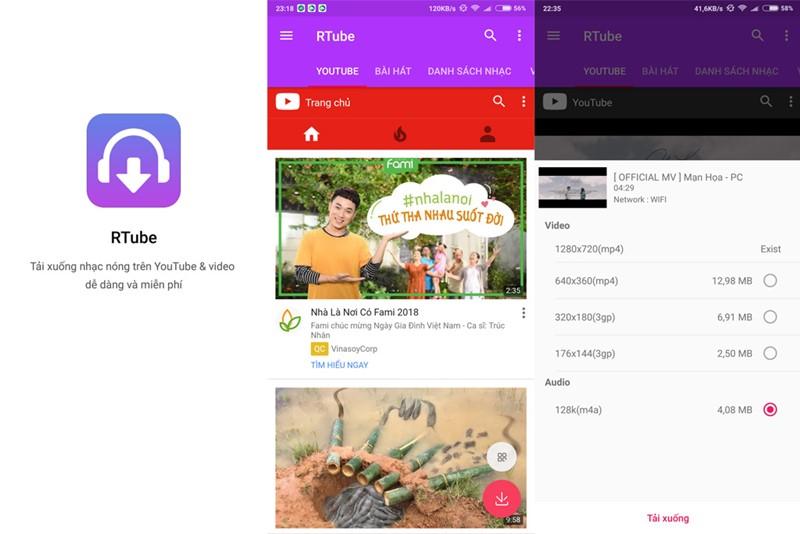 RTube: Ứng dụng miễn phí giúp tải video từ YouTube trên thiết bị Android