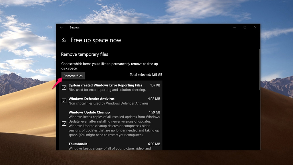 Hướng dẫn cách giải phóng dung lượng ổ đĩa toàn diện nhất trên Windows 10 Version 1803