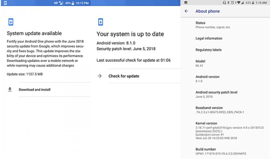Xiaomi Mi A1 chính thức được cập nhật lên Android 8.1 Oreo nhưng kèm theo lỗi, anh em dừng update nhé!
