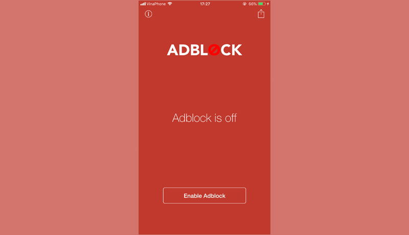Adblock Mobile: Trình chặn quảng cáo trên ứng dụng cực kỳ hiệu quả dành cho thiết bị iOS