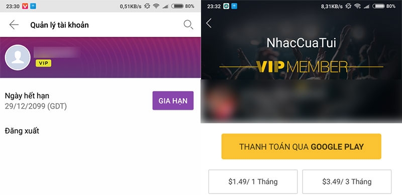 Chia sẻ ứng dụng Zing Mp3 và Nhaccuatui mod chức năng VIP mới nhất 2018 cho máy Android