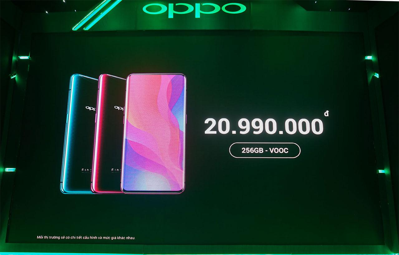 OPPO chính thức ra mắt Find X tại Việt Nam: Camera ẩn hoàn toàn, Snapdragon 845, 8GB RAM, giá 20.990.000 VNĐ