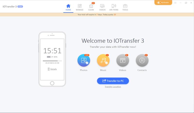 IOTransfer: Ứng dụng chuyển đổi dữ liệu giữa iPhone, iPad, iPod với máy tính của bạn