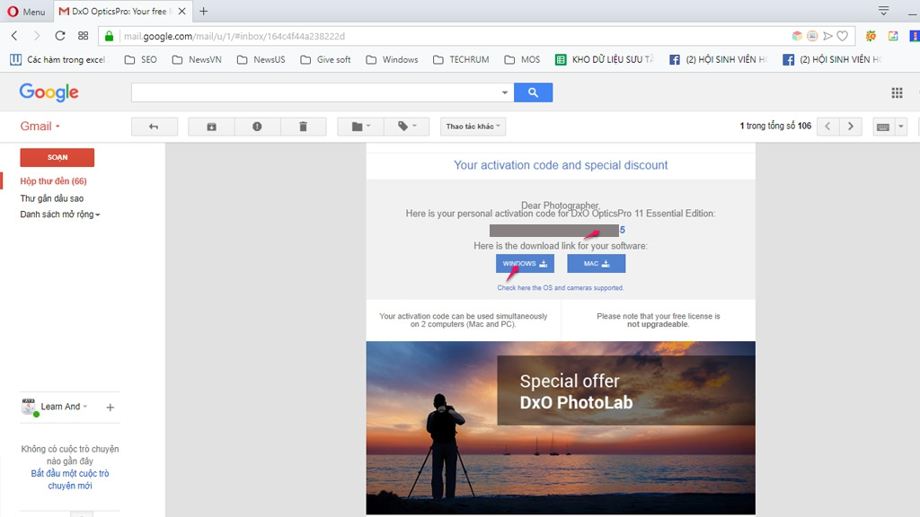 Nhanh tay nhận miễn phí bản quyền phần mềm xử lý ảnh DxO OpticsPro 11 Essential chuyên nghiệp trị giá 129 USD