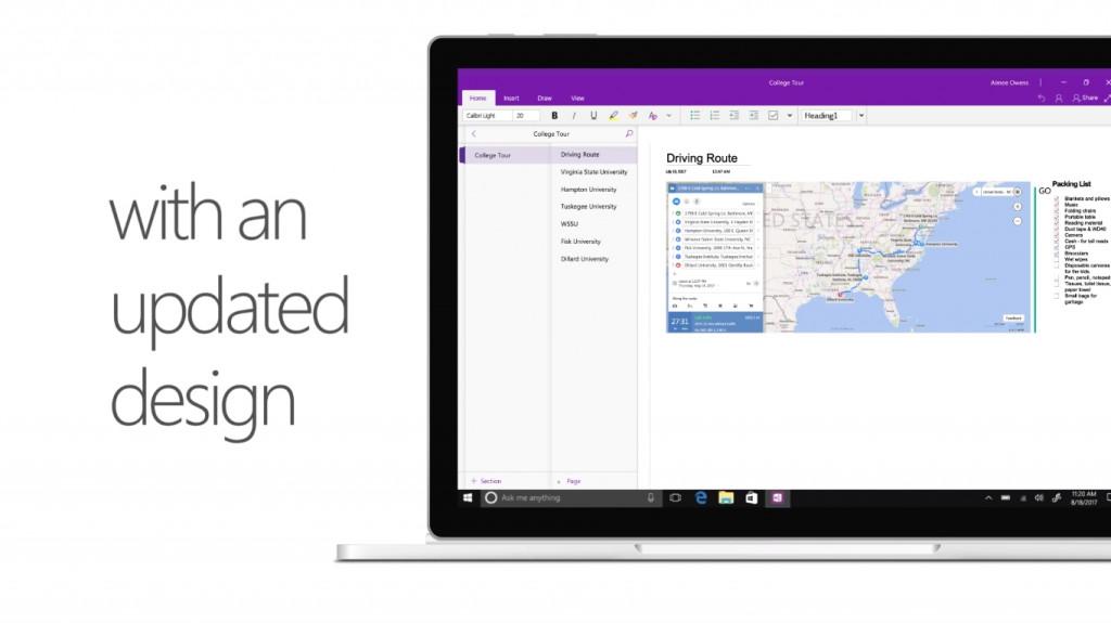 Bản cập nhật OneNote chính thức được phát hành cho Windows 10 với nhiều tính năng và giao diện mới