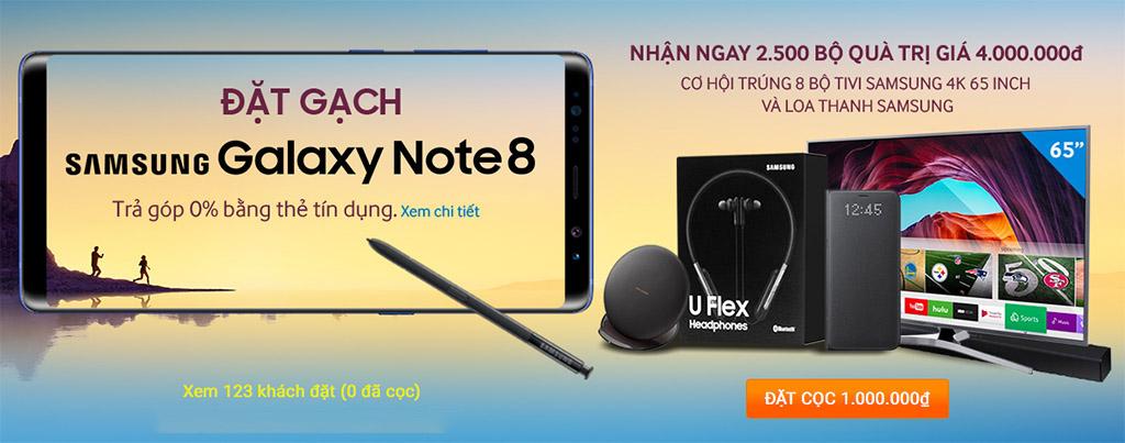 Vừa ra mắt, Samsung  Galaxy Note 8 đã bắt đầu cho đặt hàng tại Việt Nam, giá 23 triệu đồng?