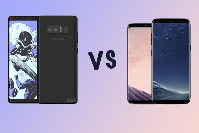 So sánh cấu hình Galaxy Note8 với OnePlus 5, Google Pixel XL, HTC U11, Galaxy S8+, LG G6, iPhone 7 Plus