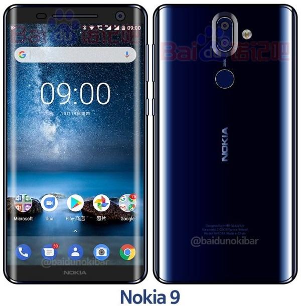 Đây chính là Nokia 9 phiên bản Xanh lam bóng