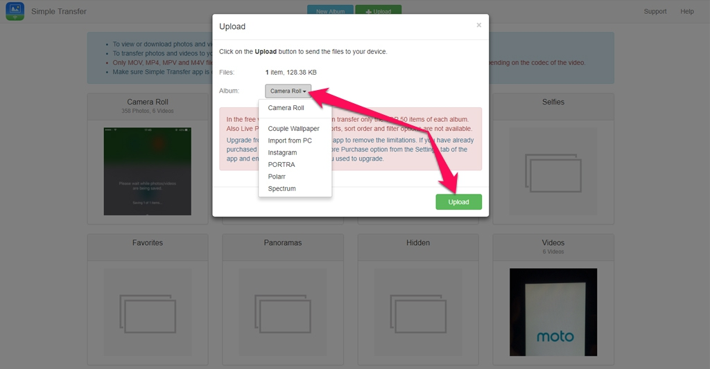 Hướng dẫn di chuyển hình ảnh hoặc video giữa máy tính, iPhone và iPad mà không cần cáp kết nối