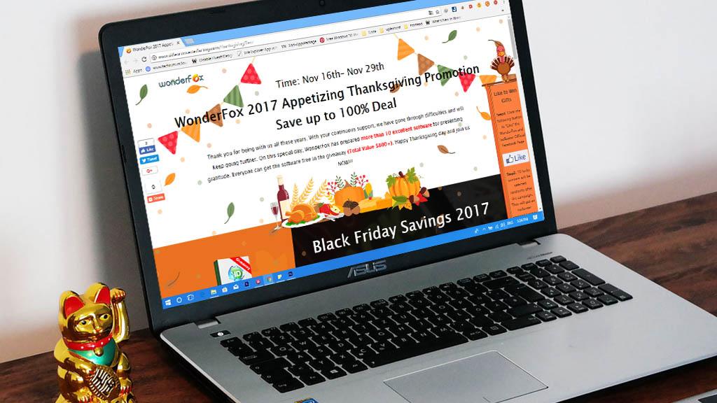 Nhân ngày Lễ Tạ Ơn, WonderFox tặng miễn phí gói phần mềm bản quyền trị giá 800 USD