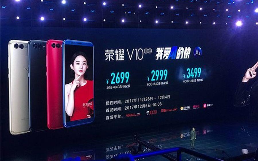 Honor V10 chính thức được ra mắt với cấu hình tương đương Mate 10 Pro, giá từ 9.3 triệu