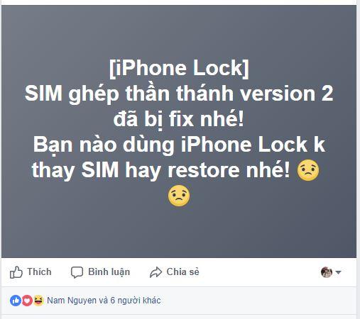 SIM ghép thần thánh   version 2 lại tiếp tục bị Apple fix lỗi, tương lai buồn cho iPhone Lock?