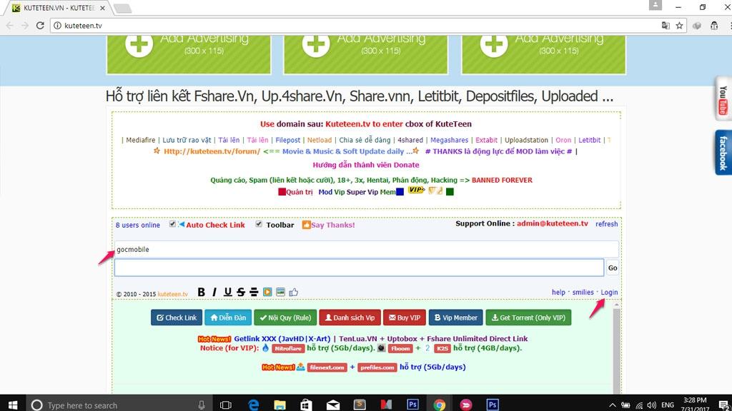 Giới thiệu 3 trang web get link Fshare, 4Share không có quảng cáo pop-up khó chịu