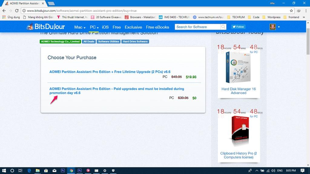 Mời nhận miễn phí phần mềm quản lý phân vùng ổ cứng AOMEI Partition Assistant Pro 6.6 trị giá 40 USD