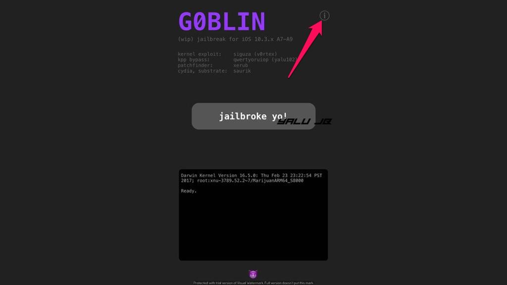 Hướng dẫn sửa lỗi trắng màn hình Cydia khi sử dụng G0blin Jailbreak 10.3.3 64bit