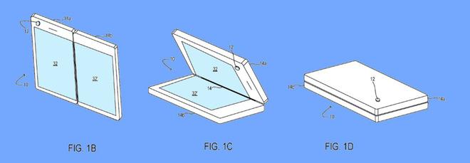 Microsoft hé lộ hàng loạt bằng sáng chế liên quan đến thiết kế vị trí camera cho smartphone màn hình gập