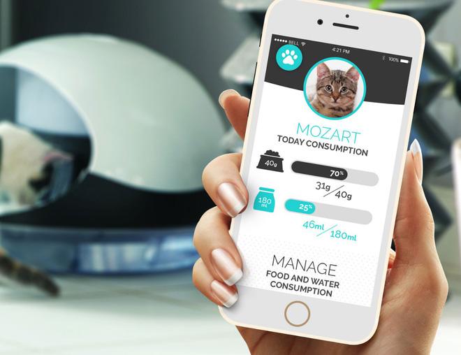 [CES 2018] Máy cho thú cưng ăn giờ cũng thông minh: Phân biệt được đâu là chó, đâu là mèo, theo dõi được cả chế độ ăn uống luôn