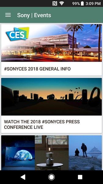 [CES 2018] Sony phát hành ứng dụng giúp cập nhật nhanh chóng các thông tin mới nhất của dòng Xperia