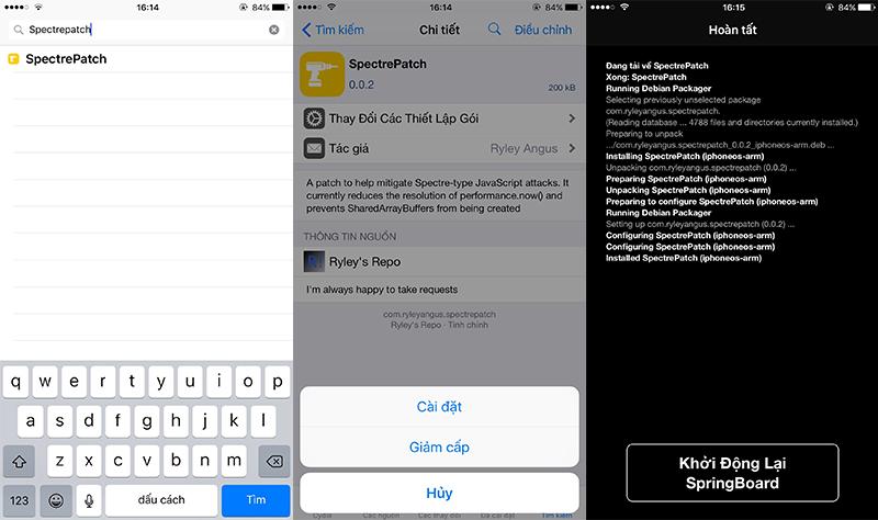 Hướng dẫn vá lỗ hổng bảo mật Spectre trên các thiết bị sử dụng phiên bản iOS 9 đến 10.3