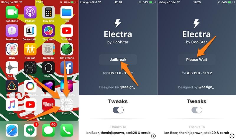 Coolstar phát hành công cụ Electra, hỗ trợ Jailbreak iPhone/iPad sử dụng iOS 11.0 đến 11.1.2