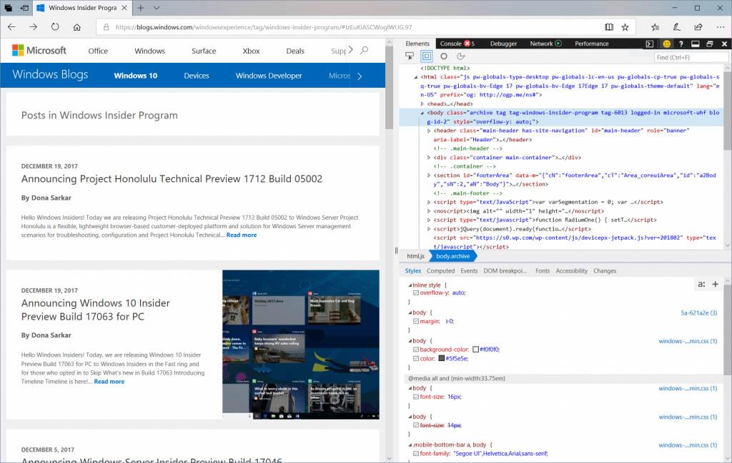Những cải tiến vược bậc mà Microsoft Edge có được qua Windows 10 Insider Preview build 17074