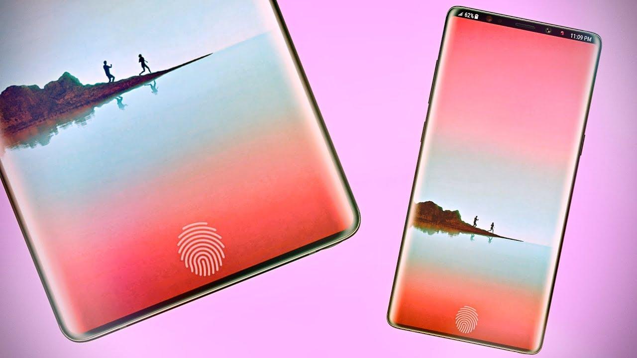 Samsung đang phát triển thiết kế smartphone không viền mới, tích hợp cảm biến vân tay dưới màn hình, không có tai thỏ
