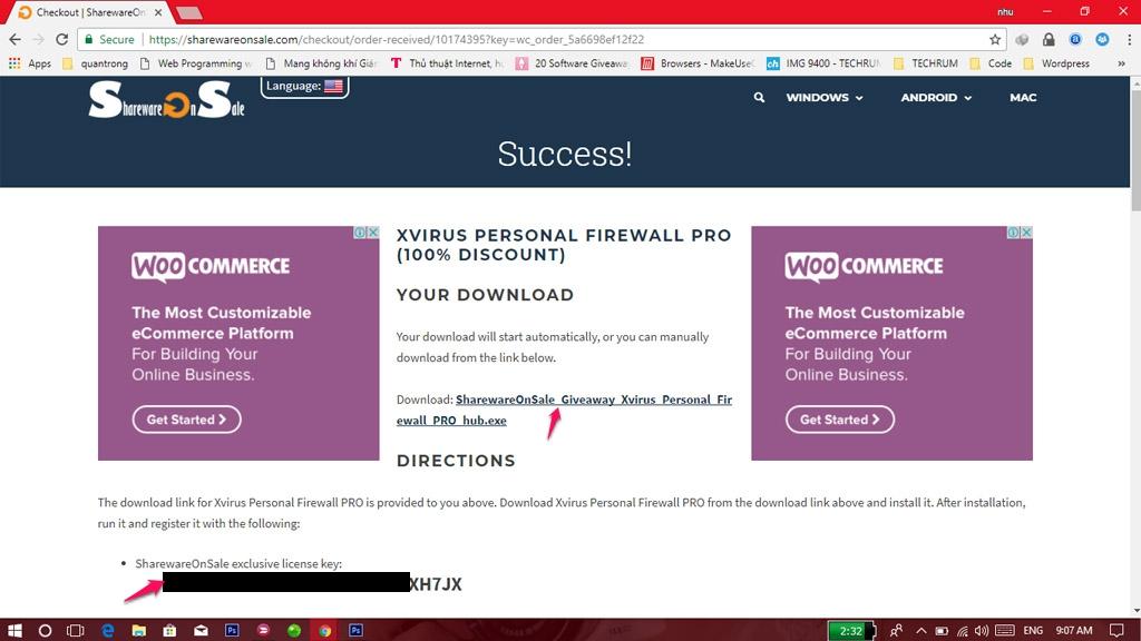 Hướng dẫn nhận miễn   phí bản quyền phần mềm tường lửa Xvirus Personal Firewall PRO trị giá 48.93 USD