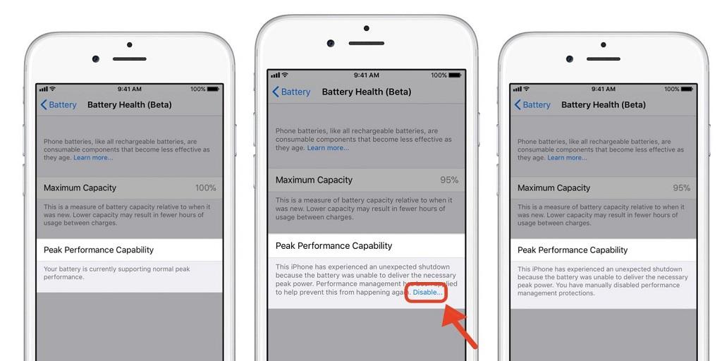 Hướng dẫn tắt tính năng làm chậm iPhone khi pin chai của Apple cho mọi chiếc iPhone chạy iOS 11