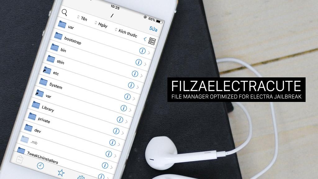 tenovi net - Hướng dẫn cài đặt Filza Manager phiên bản mới