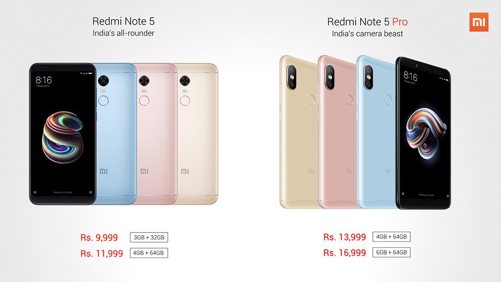 Xiaomi chính thức ra mắt Redmi Note 5 Pro với màn hình 18:9, camera kép, giá từ 5 triệu VND