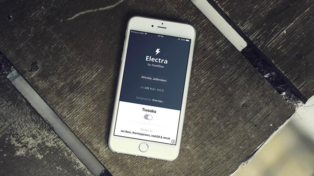 Hướng dẫn jailbreak iOS 11 bằng Electra phiên bản chính thức, có Cydia, không cần máy tính