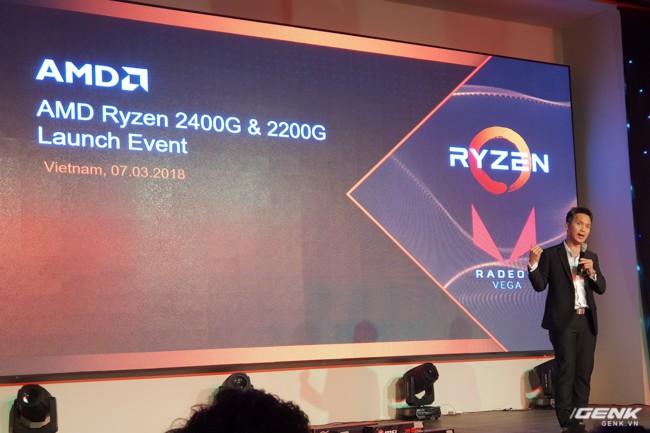 AMD chính thức ra mắt APU Ryzen 3 2200G và Ryzen 5 2400G tại thị trường Việt Nam