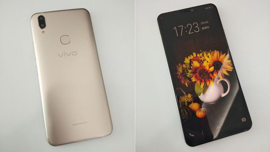 Rò rỉ hình ảnh thực  tế Vivo V9 với màn hình tai thỏ và camera kép đặt dọc