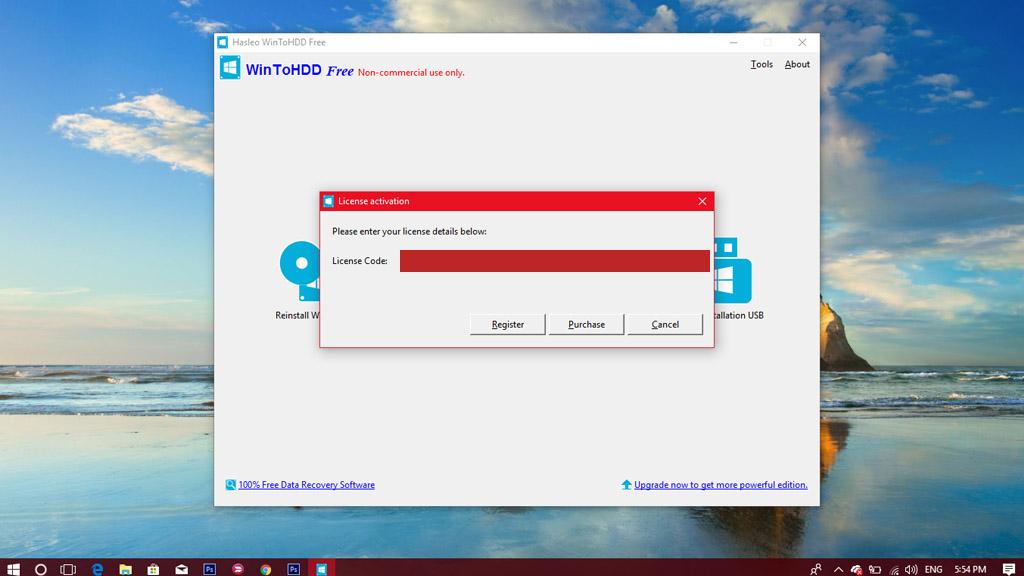 Nhanh tay nhận miễn phí bản quyền phần mềm WinToHDD Professional 2.8 hỗ trợ cài Windows đơn giản không cần USB trị giá 30 USD