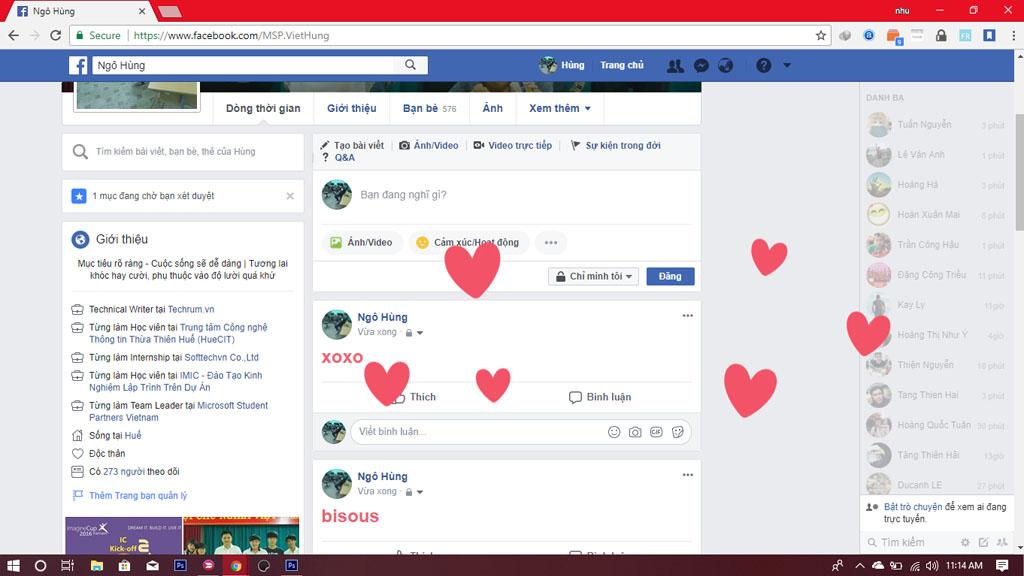 Tổng hợp những từ khoá gõ vào là đổi màu trên Facebook, BFF hay XOXO chỉ là hiệu ứng vui vẻ thôi