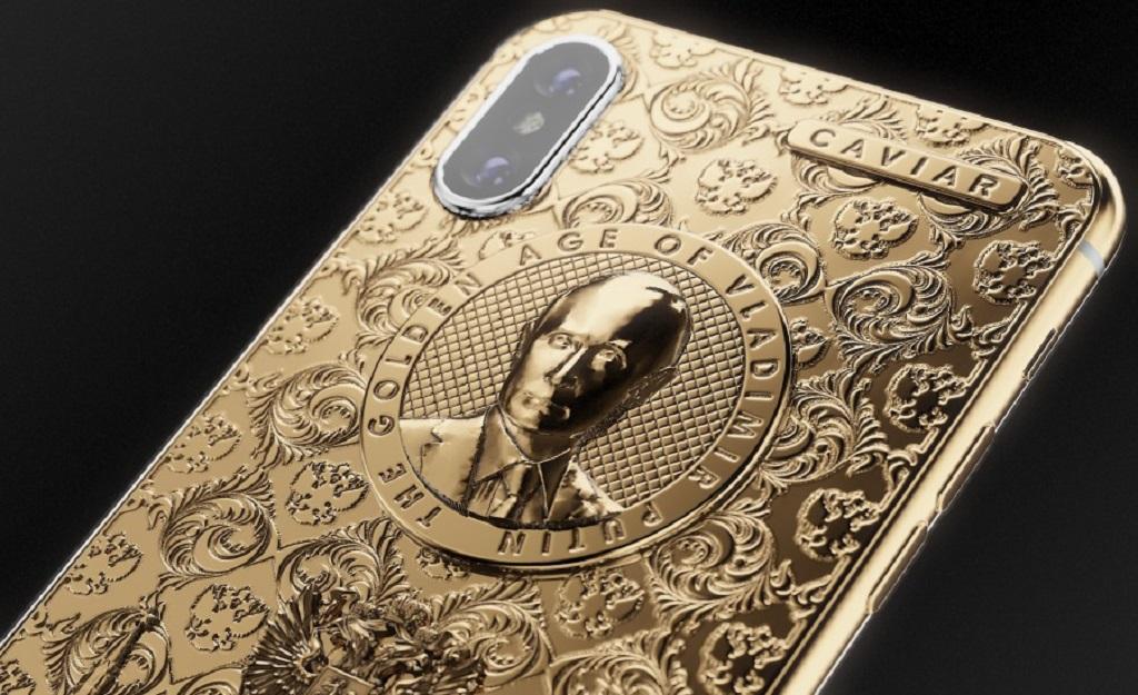 Caviar phát hành iPhone X với chân dung tổng thống Putin mạ vàng 24K sang trọng