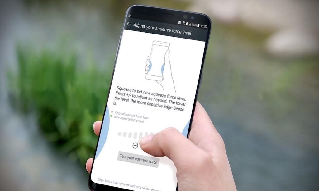 Hướng dẫn đem tính năng bóp viền Edge Sense trên máy HTC U11 lên smartphone Samsung