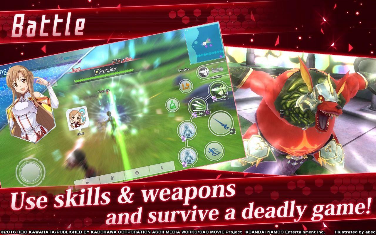 [Android/iOS] Sword  Art Online: Integral Factor đã chính thức có phiên bản tiếng Anh