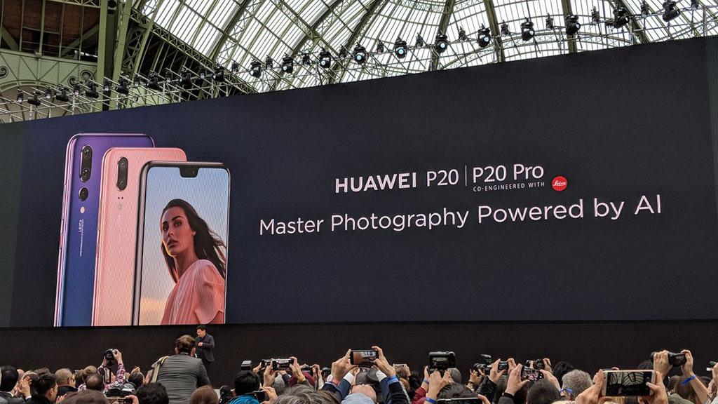 Huawei ra mắt P20 và P20 Pro với chip Kirin 970, màn hình tai thỏ, 3 camera phá kỷ lục DxOMark với 107 điểm