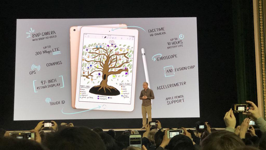 Apple công bố iPad 9.7 inch mới cho sinh viên với A10 Fusion, hỗ trợ Apple Pencil, giá từ $299