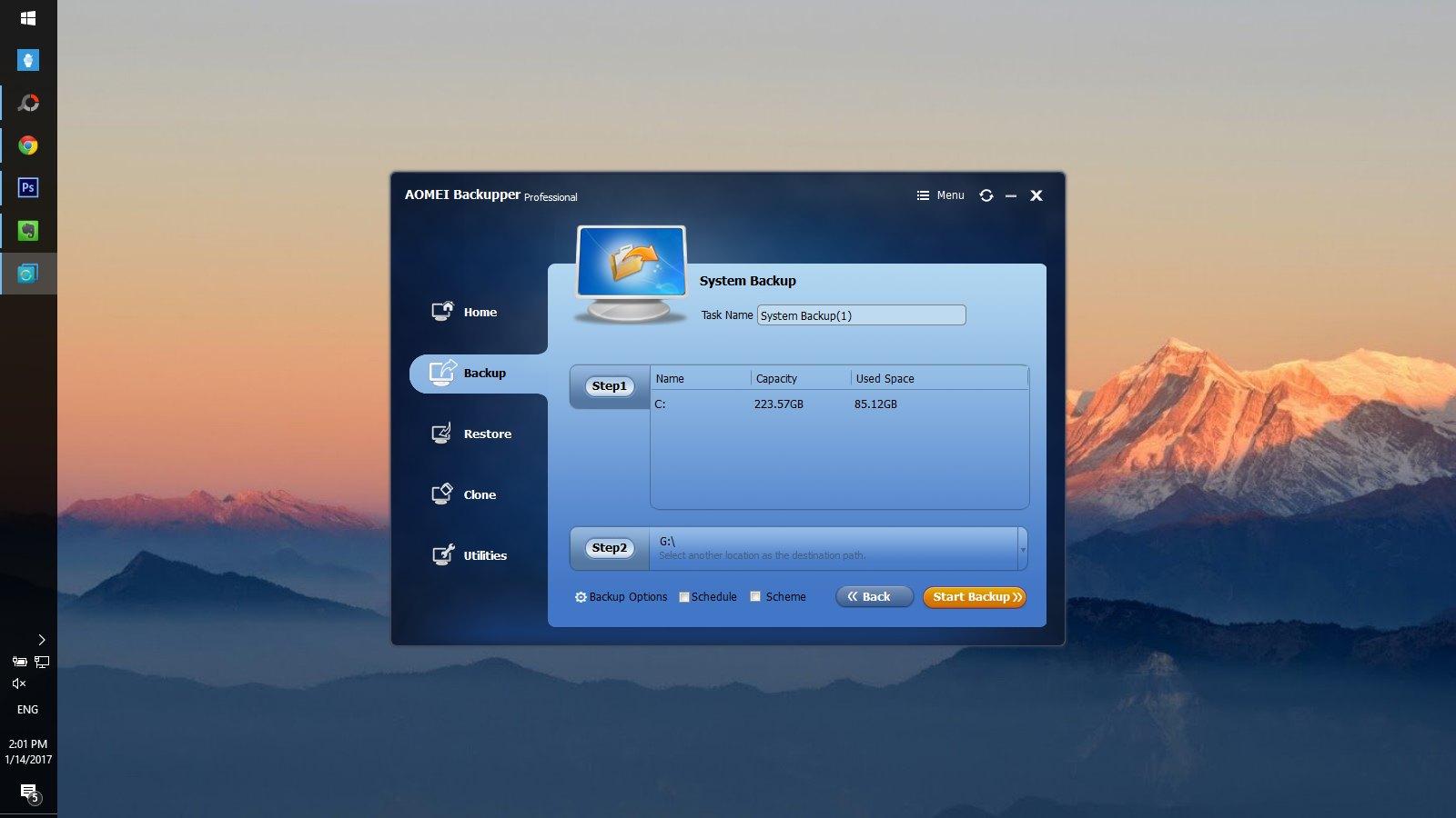 AOMEI Backupper Pro: Phần mềm sao lưu và khôi phục dữ liệu trị giá 49.95 đang miễn phí bản quyền