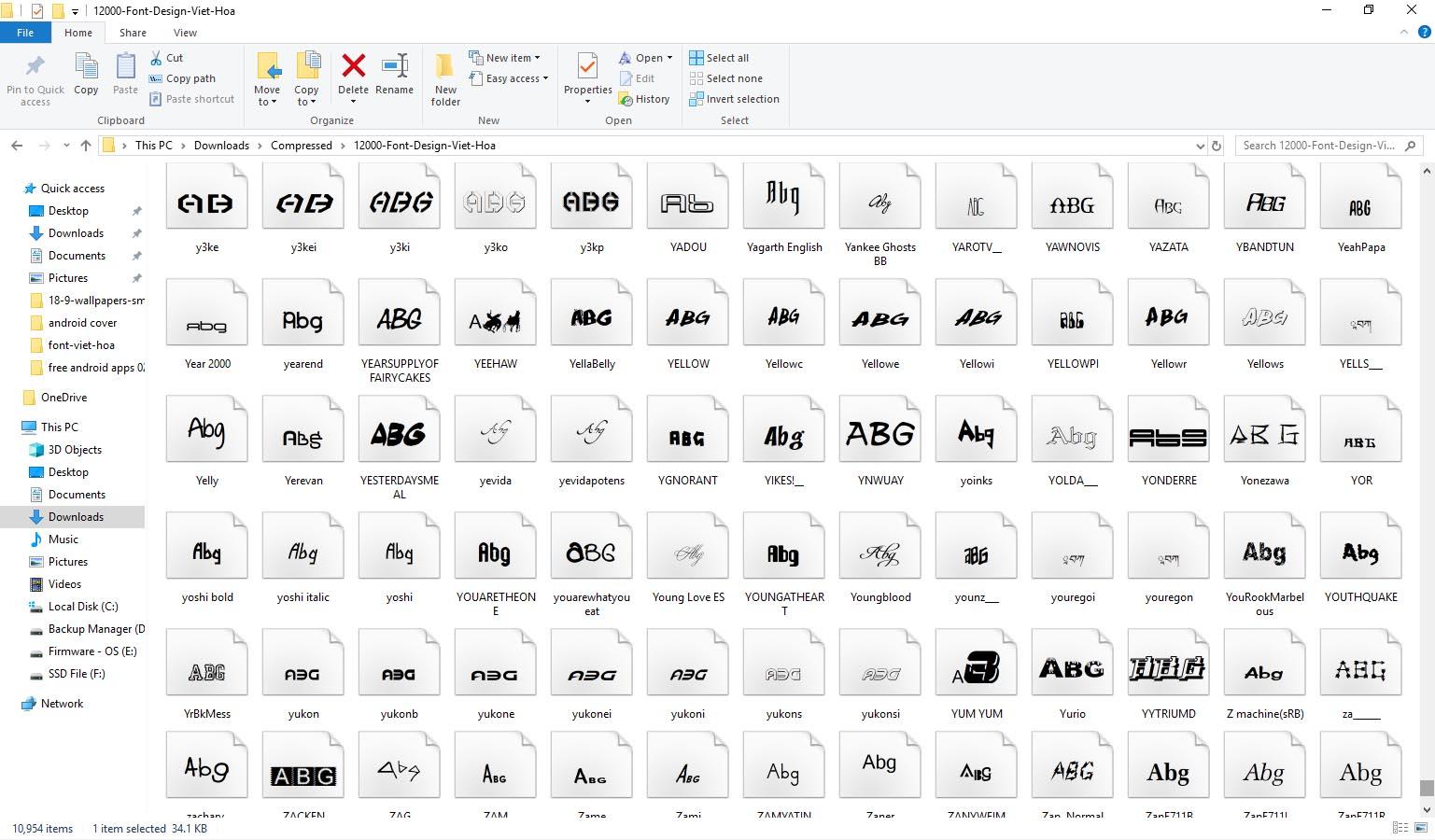 Chia sẻ hơn 10.000 font chữ đã được Việt Hóa dành cho Photoshop