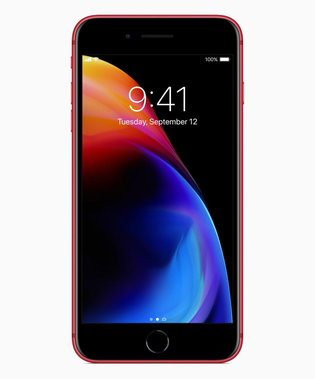 Apple chính thức ra mắt iPhone 8/8 Plus phiên bản màu đỏ mặt trước màu đen đẹp hơn, giá không đổi