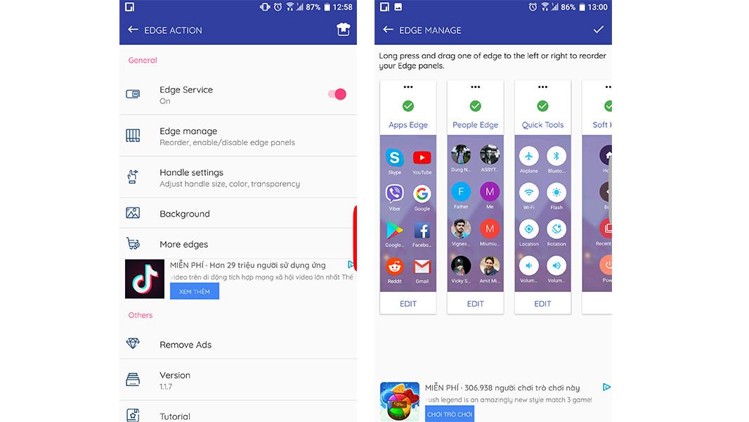 Chia sẻ ứng dụng miễn phí giúp mang tính năng Edge Screen của Samsung lên các máy Android khác
