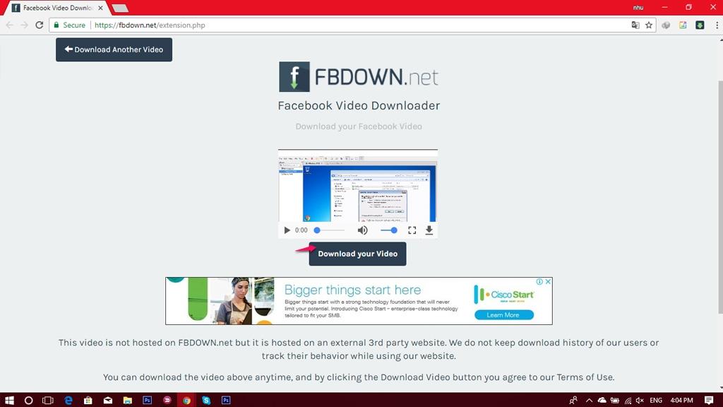 Hướng dẫn tải video Facebook  chất lượng cao và nhanh chóng trên trình duyệt Google Chrome