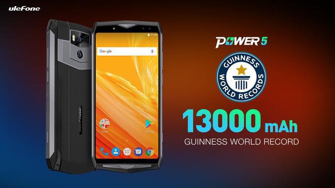 Hãng Trung Quốc ra mắt mẫu smartphone pin khủng nhất thế giới 13.000 mAh, cùng hai cụm camera kép cao cấp