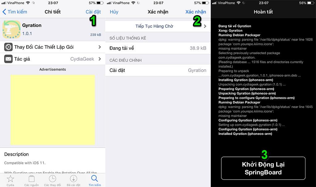 Hướng dẫn xoay ngang màn hình khóa, giao diện cài đặt và hầu hết ứng dụng trên thiết bị sử dụng iOS 11