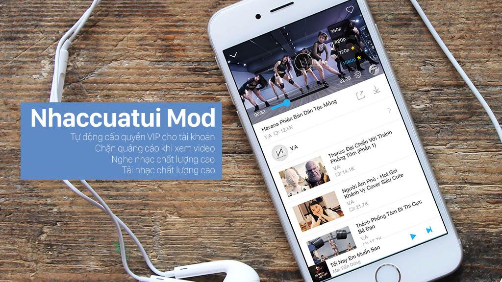 Chia sẻ ứng dụng Nhaccuatui phiên bản đã mod chức năng VIP dành cho iPhone, iPad