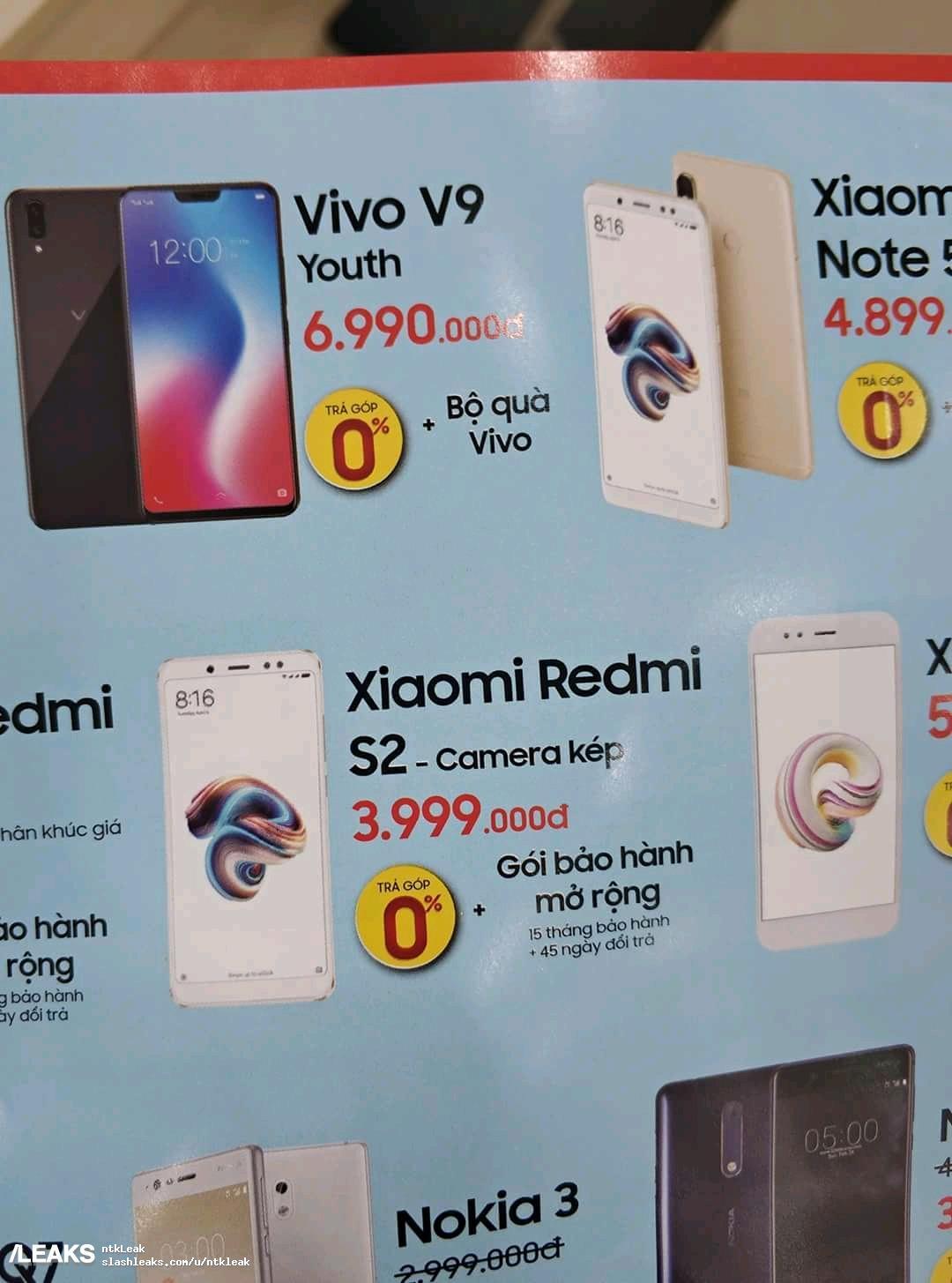 Rò rỉ hình hình ảnh thực tế Xiaomi Redmi S2 phiên bản màu hồng, giá 4 triệu VNĐ